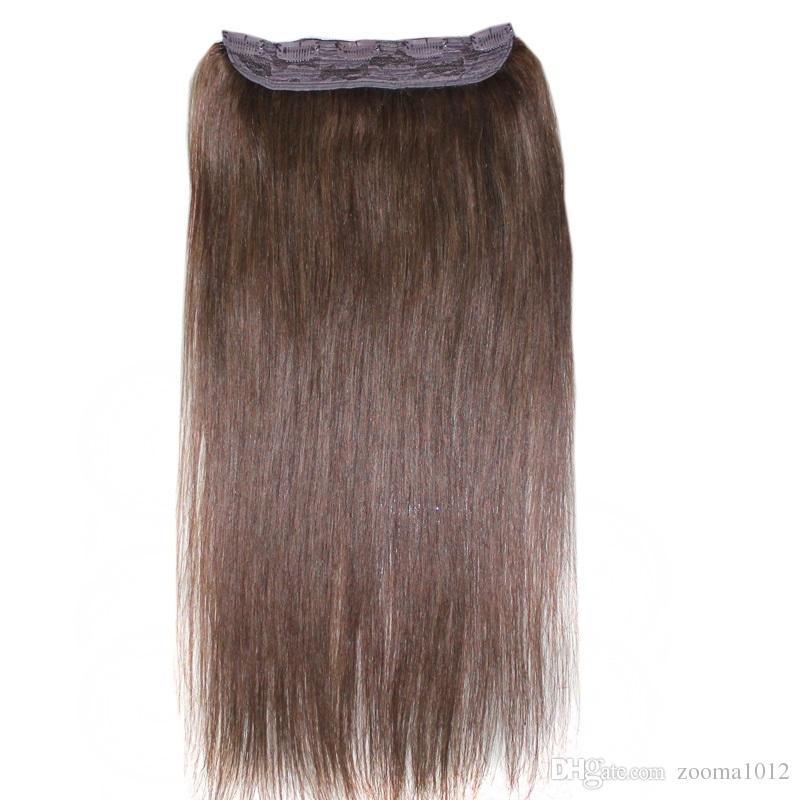 Pince à cheveux humains 100g Remy brésilienne dans les extensions Clip droit sur des morceaux de cheveux humains # 1B # 2 # 8 Brown # 613 Blonde 5 clips