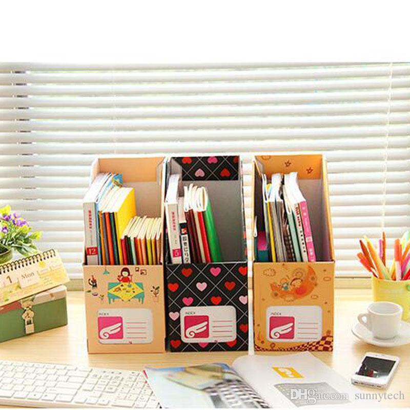 Creative DIY Desktop File Holder A4 Paper File Organizer Box Office Book Magazine Document Desk Organizer LZ0083
