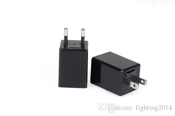 WIFI AC Adaptor Mini IP camera P2P 1080P EU US plug charger DVR pinhone camera Home Security charger camera remote monitor Cam Black