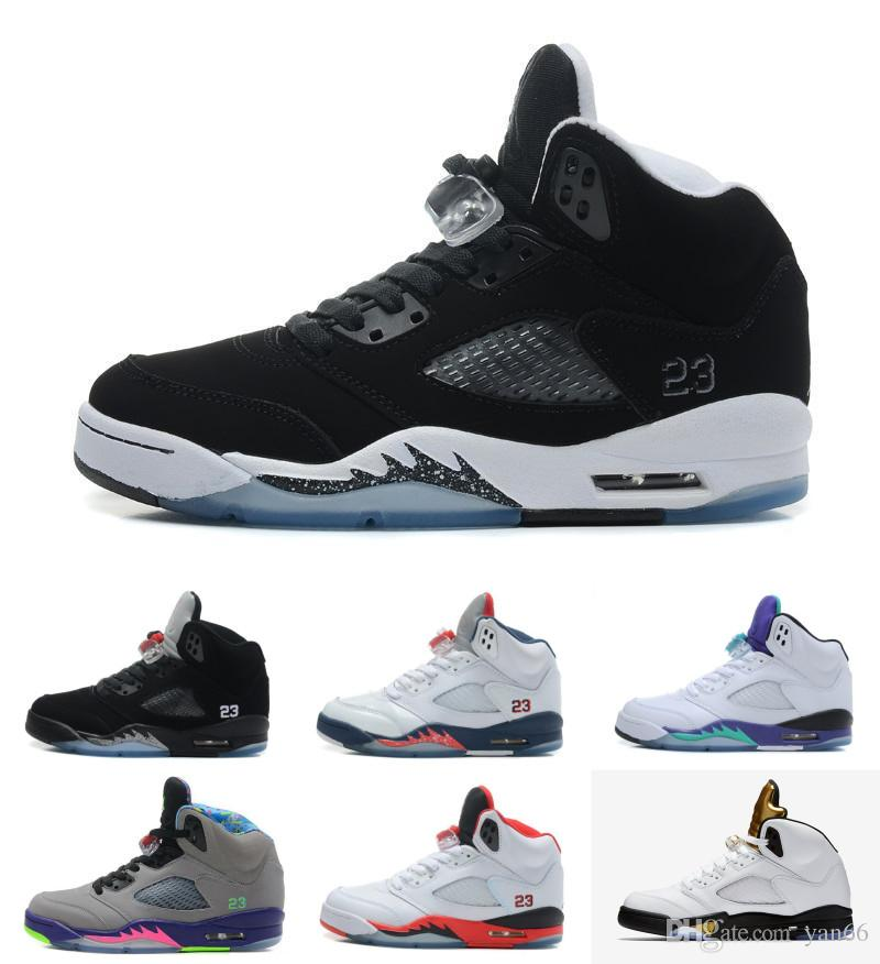 Top Quality 5 OG Black Metallic Men Basketball Shoes 3M Reflective Effect Sup 5s Sneakers With Shoes Box