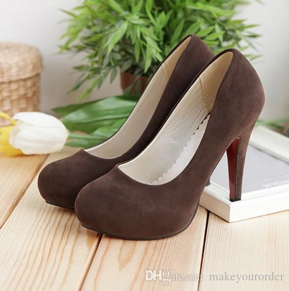 wholesale high quality factory price Vintage Brush Finish round head platform wedding bride women high heel shoe