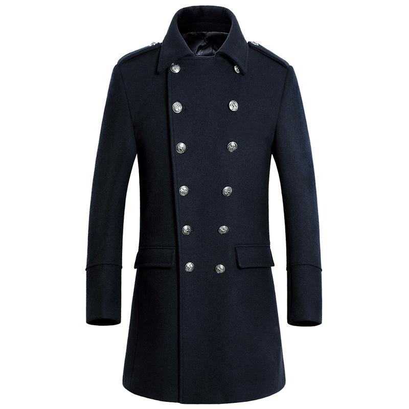 867ece91439 2019 Wholesale Custom Made Fashion Double Breasted Cashmere Overcoat Men  Good Quality Warm Men Pea Coats Plus Size Wear Coat For Men From Baldwing