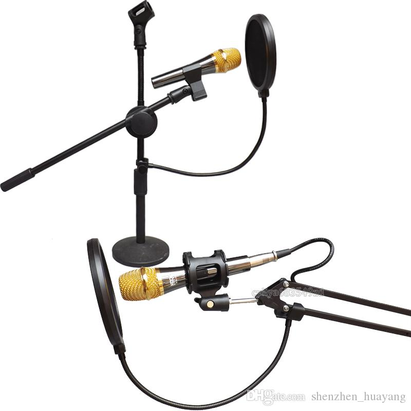 Double Layer Studio Microphone Mic Wind Screen Pop Filter/ Swivel Mount / Mask Shied For Speaking Recording