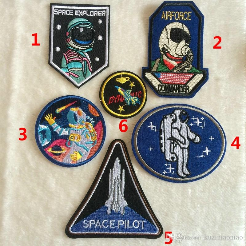 Fabric Pilot Embroidery Spaceman Astronaut Costume Patchesclothes