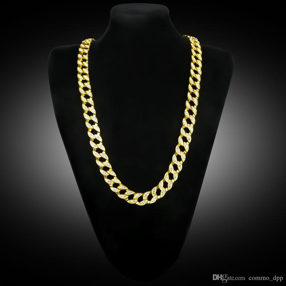 Best New Miami Cuban Link Gold Plated Iced Out White ...