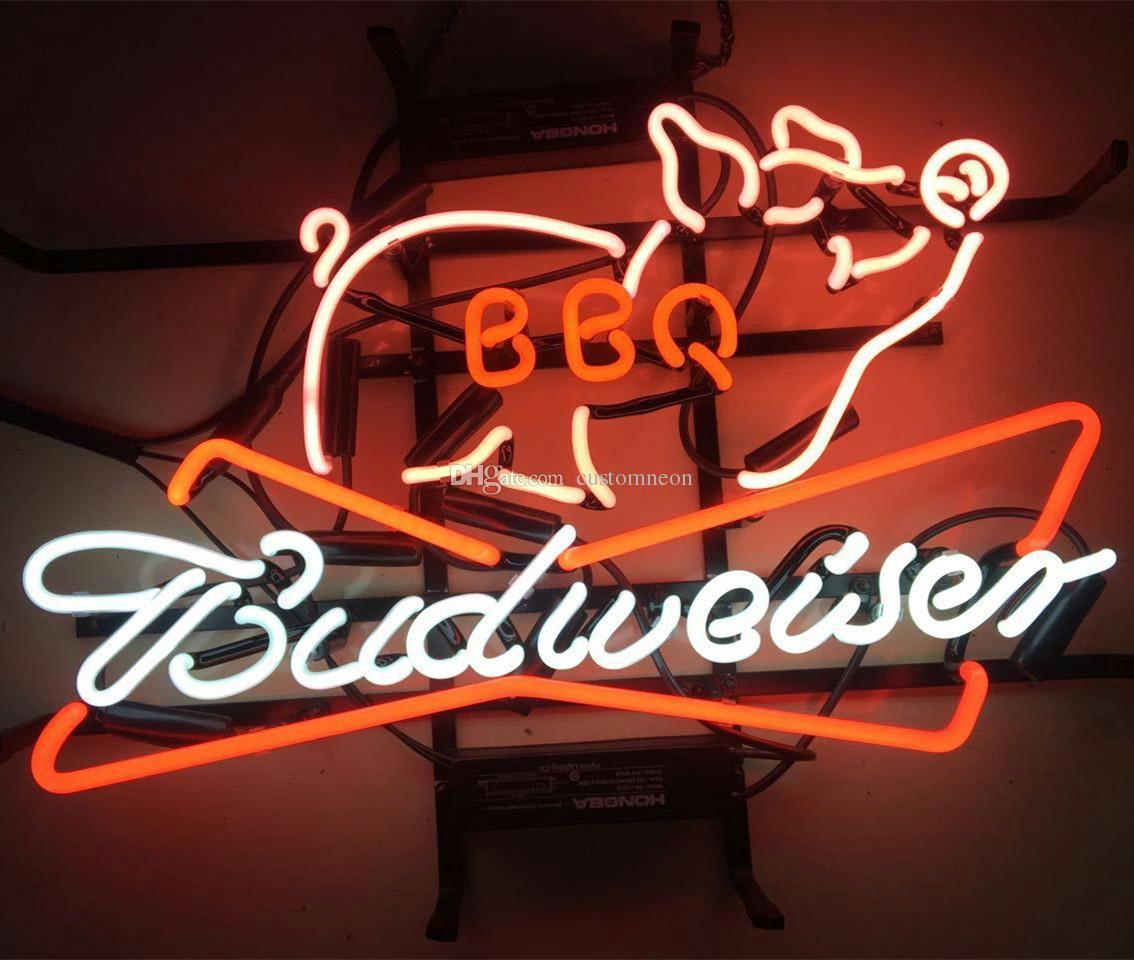 Großhandel 17 X14 Neue Budweiser Bbq Bier Bar Knospe Licht Grill ...