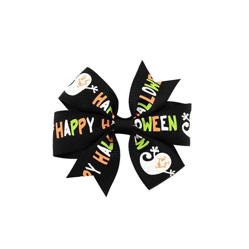 3 pouce Bébé Halloween Gros Grain Ruban Archets AVEC Clip Filles Enfants Ghost Citrouille Bébé Fille Pinwheel Cheveux Clips Épingle À Cheveux Accessoires KFJ105