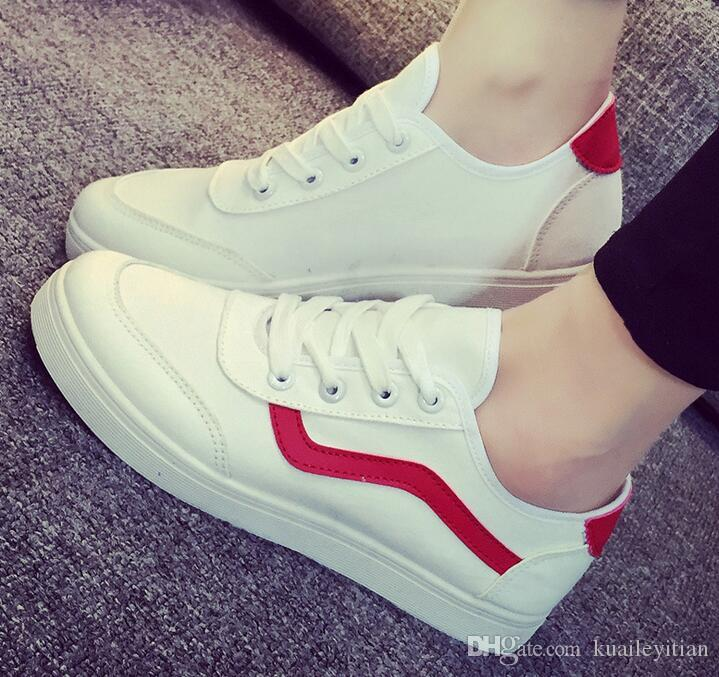 New fashion spring and autumn men women shoes Lace-up Casual Shoes good quality flats