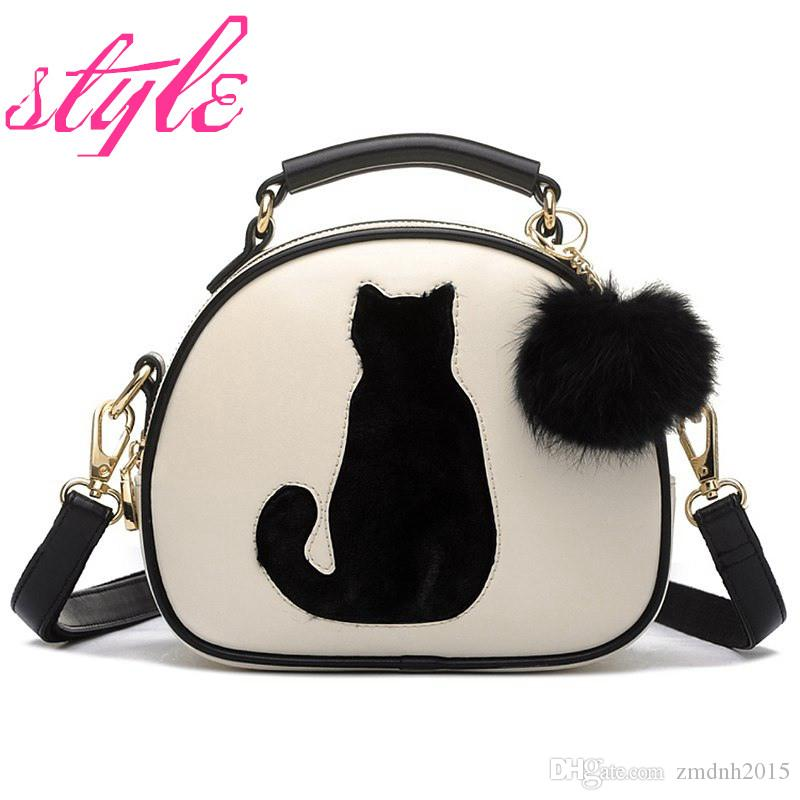 20ff413625 2019 2017 New Hot Sale Fashion Women Bags Cat Printing Bag Ladies ...