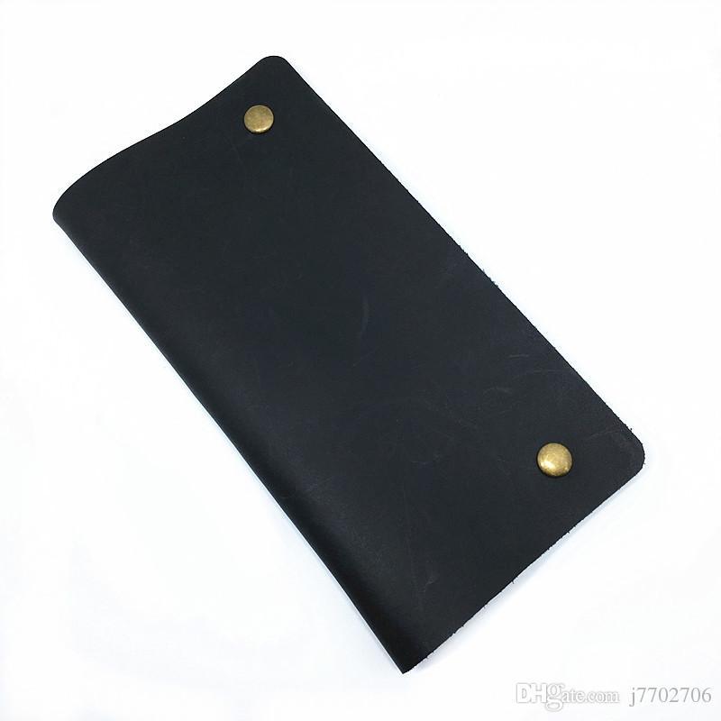 GUGLE 유명 브랜드 Mens 리얼 가죽 빈티지 매뉴얼 HASP 디자인 지갑 고품질 겹쳐 부드러운 가죽 롱 클러치 백 전화 지갑 남성용