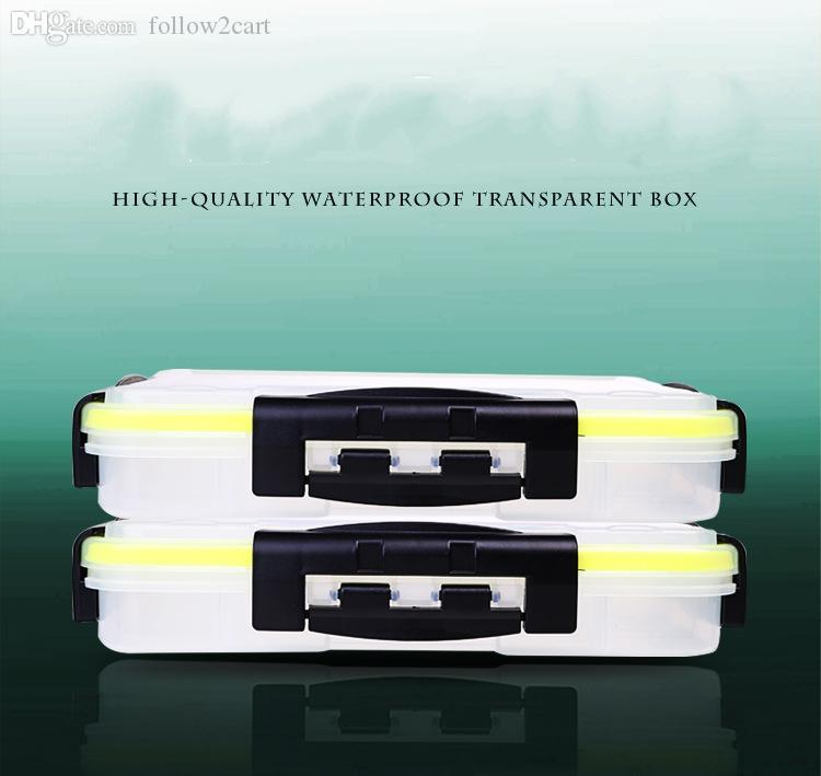 ABS Plastic Clear Boxes For Carp Fishing Tackle Storage Case Tool 280*160*60MM Double Sided Transparent Portable 2017 White