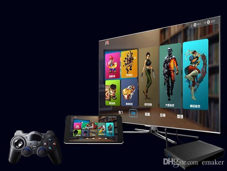 Universal 2.4G Juego inalámbrico Gamepad Joystick para Android TV Box Tablets PC GPD XD controlador de juego D3475A