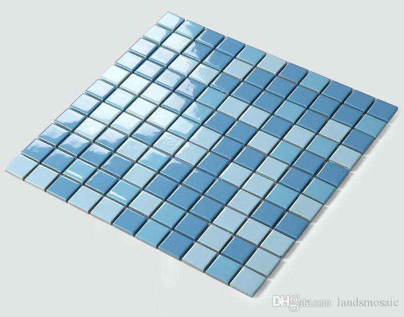 Großhandel Sky Blue Keramikfliesen, Wasserdichte Küche Backsplash ...