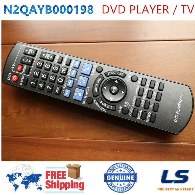 Wholesale- [ORIGINAL] N2QAYB000198 Remote Control FIT FOR Panasonic DVD  PLAYER / TV