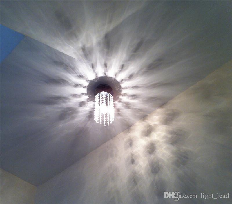 Новый K9 хрустальная люстра E14 Одноголовочная светодиодная спасательная цепочка подвесной светильник современный позолоченный для гостиной столовая спальня 110V / 220V