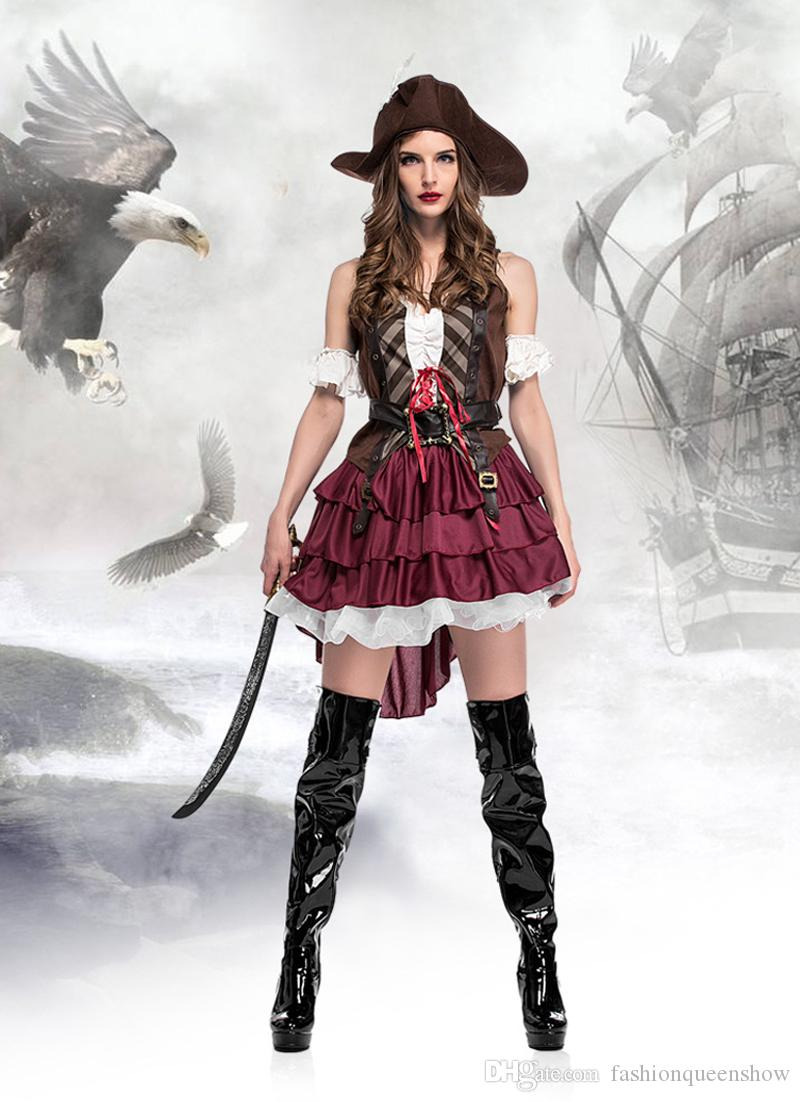 Classic Sexy Women Pirate Costume Vintage Gothic Fancy Dress Halloween Carnival Themed Party Corsair Cosplay Outfits Halloween Costumes For Kids Cheap ...  sc 1 st  DHgate.com & Classic Sexy Women Pirate Costume Vintage Gothic Fancy Dress ...