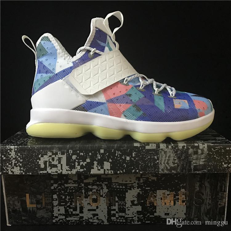 finest selection 808ee 3cbec Wholesale 2016 Men LEbRon 14 LBJ 14 USA BHM Basketball Shoes Elite Dream EP  Men Sports Zapatillas Shoes For Sale Purple Shoes Scholl Shoes From Minggu,  ...