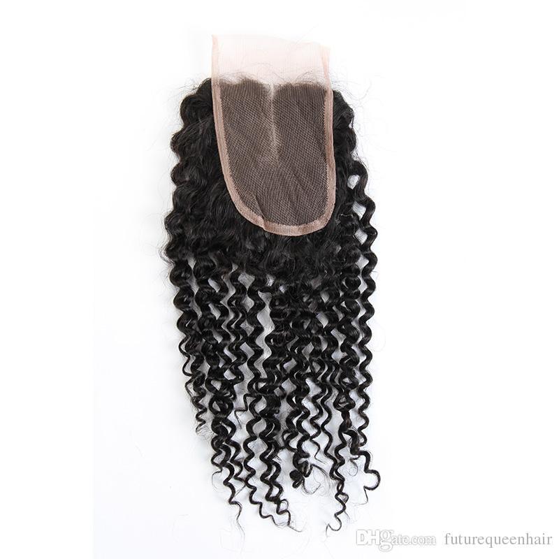 7a pelo malasio 3 paquetes con cierre de encaje libre o parte media brasileña peruana malasio indio mongol rizado rizado paquetes de pelo