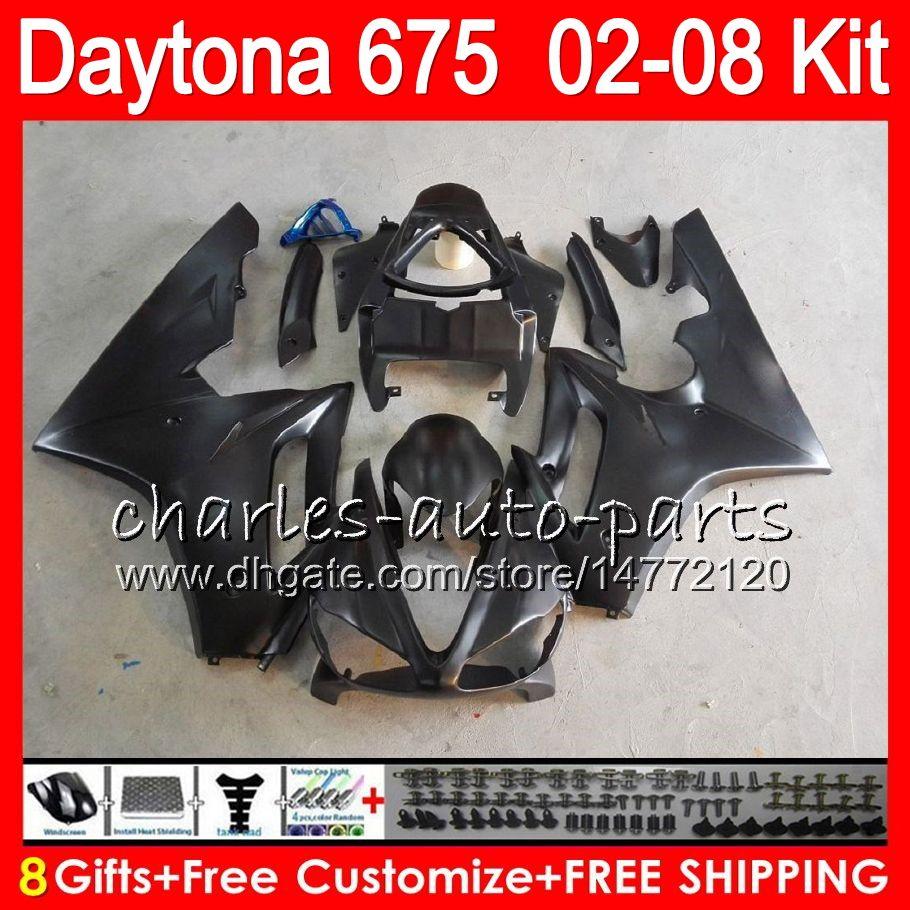 8 подарков 23 цвета для Triumph Daytona 675 02 03 04 05 06 07 08 Daytona675 черный 4hm13 Daytona 675 2002 2003 2004 2005 2006 2007 2008 обтекатель