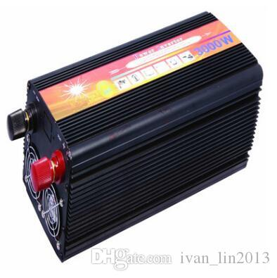 3000W Off Grid Inverter 24VDC or 12VDH to 220VAC modified Sine Wave Single Phase Solar or Wind Power Inverter peak Power 6000W for car auto