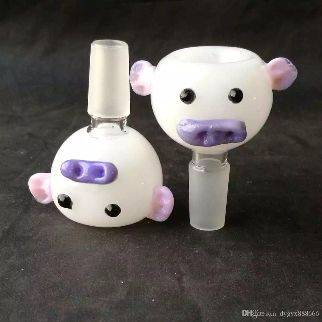 bear head cute bowl Glass Hand Smoking style good bowls nice cheap accessories bowl with cute face ears