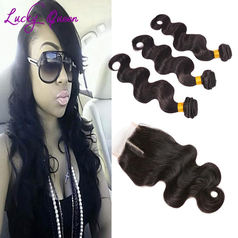 Human Hair Brazillian Body Wave With Closure Mobb Hair Bundles And Closure Lace Closure With Bundles Meches Bresilienne Lots