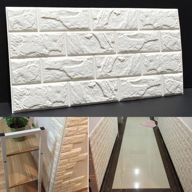 Pe Foam 3d Diy Stone Brick Wall Stickers Home Decor Poster Wallpaper For  Living Room Kitchen Self Adhesive Art Mural 60x30cm Decal Wall Decor Decal  Wall ...