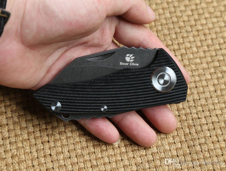 Медведь коготь оригинальный попугай шарикоподшипник тактический складной нож D2 лезвие G10 ручка открытый охота кемпинг выжить карманные ножи EDC инструмент