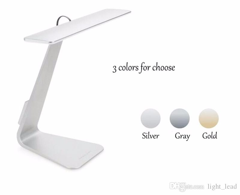 Ultrathin LED table lamps USB Dimming Touch Reading Night Light Eye Protection led lights Rechargable Desk Light Lamps Silver Gray Gold