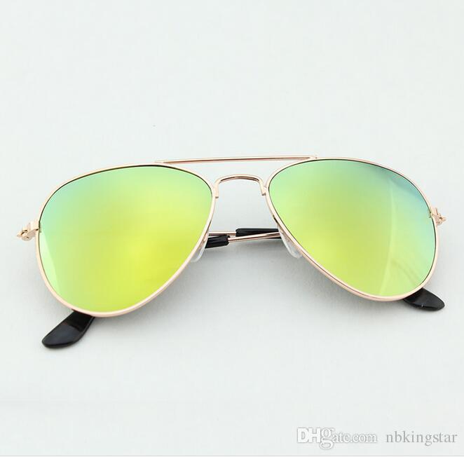 New Fashion Kids Sonnenbrille Dual Beam Kinder Baby Jungen Mädchen UV400 Schutz Sonnenbrille Goggle 12 Teile / los
