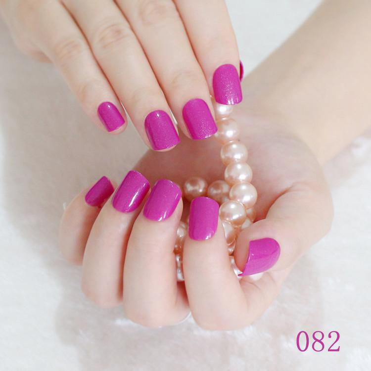 Wholesale New 2016 Women Candy Fake Nails Tips False Nail Middle ...