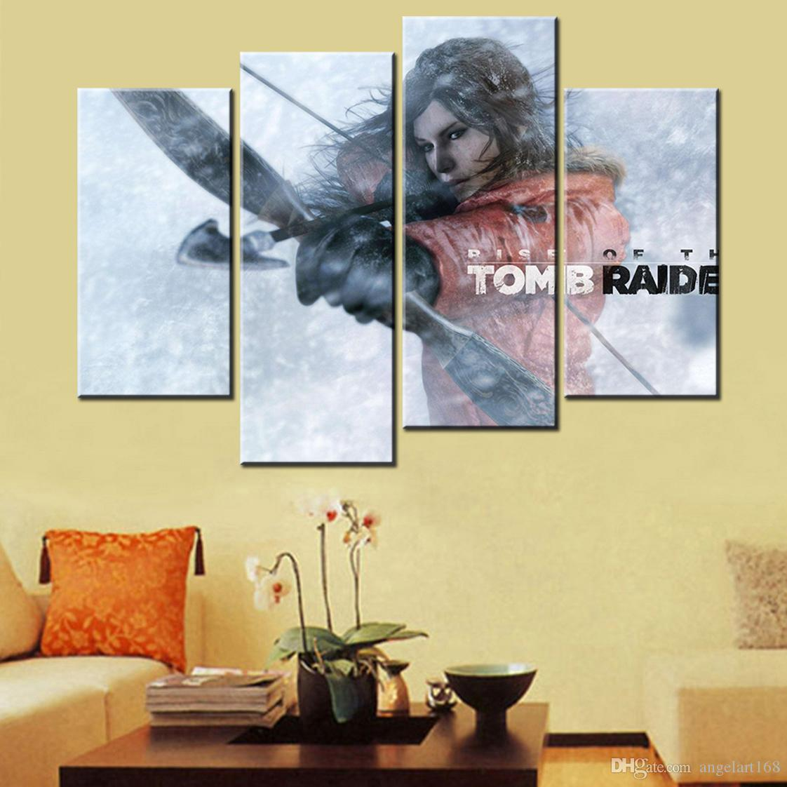 2018 Unframed Rise Of The Tomb Raider Laura Snow Bow And Arrow Print ...