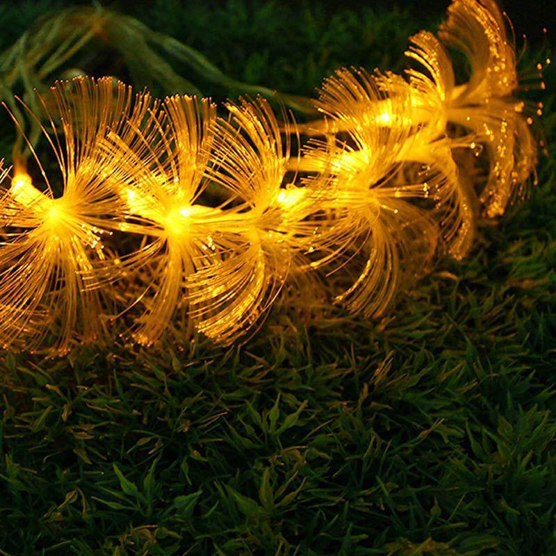 Morning Glory Fiber Optic Battery 10LED String Night Light Lamp Mni Fairy Lights Christmas Xmas Decor strings Q0039