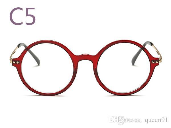 Retro Eyeglasses Frames Round Tr90 Optical Glasses Vintage Eyewear ...