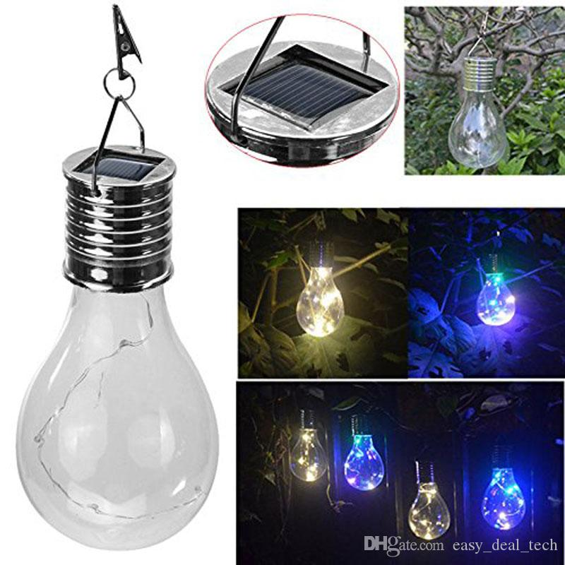 2018 hanging solar light bulb with clip solar rotatable outdoor garden camping hanging light. Black Bedroom Furniture Sets. Home Design Ideas