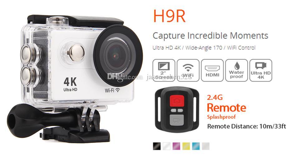H9R Ultra HD 4K Action Camera 30m waterporoof 2.0 Screen 170 degrees 1080p sport Camera mini camera