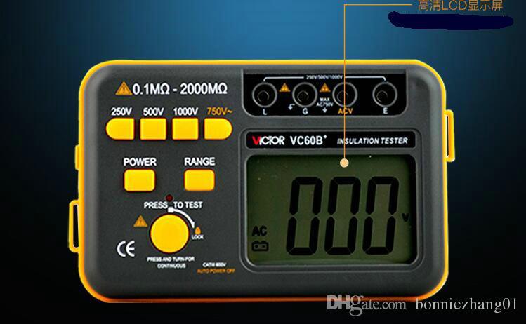VC60B+ LCD Digital Insulation Resistance Tester Megger Meg Ohm Meter Testers Measure Resistance