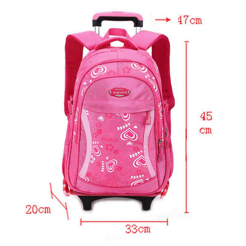 1b5c003bacbe BAIJIAWEI 2017 Cartoon Design Children S School Backpacks Detachable  Backpack For Girls Pretty Trolley Kids Bags Princess Style Leather Bags  Laptop Bags For ...