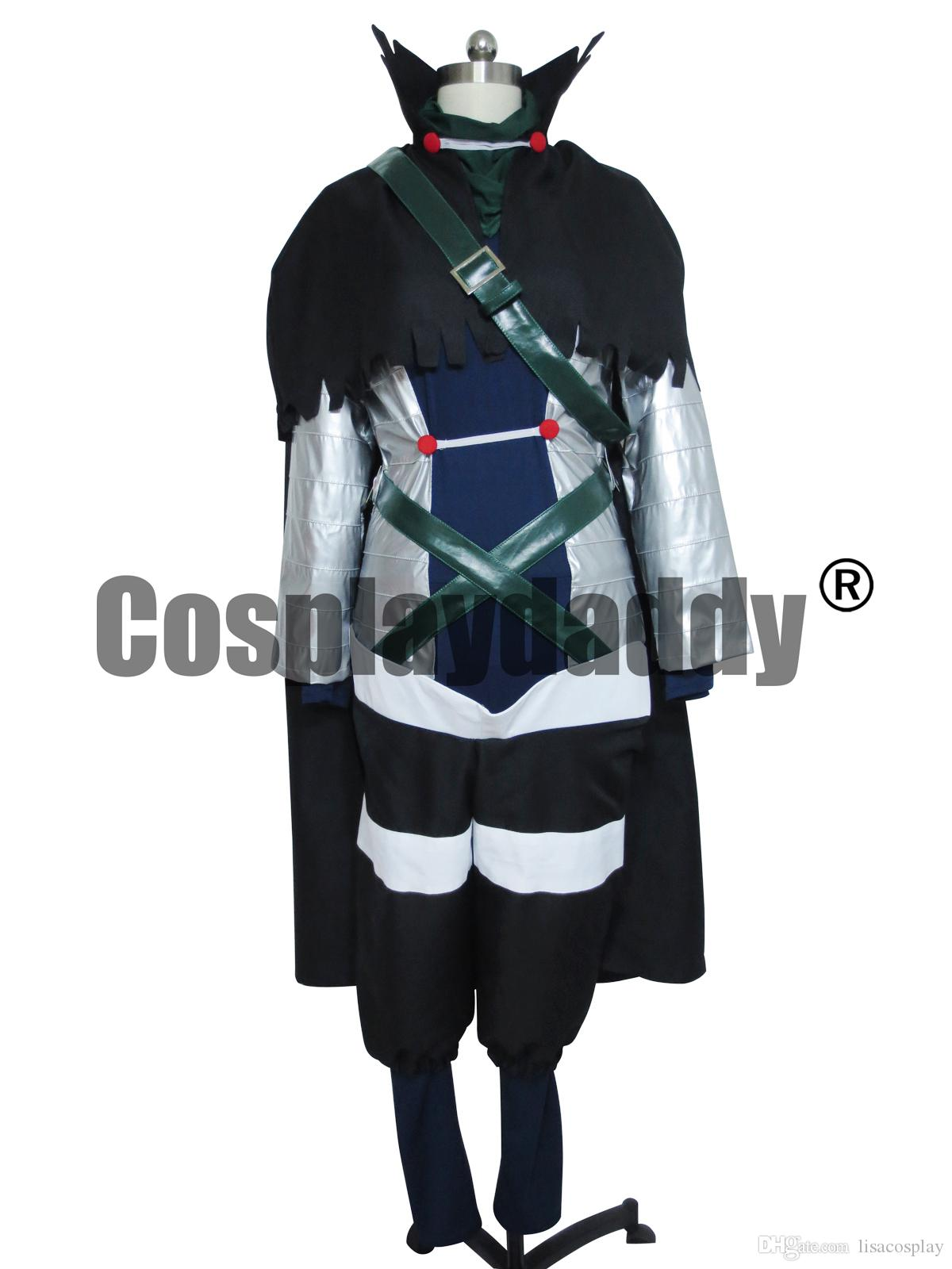 Fairy Tail Cosplay Mystogan Costume Uniforme Set completo H008