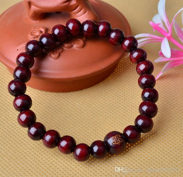 8 MM Rond Bois Perle Stretch Bracelets Femmes Hommes Coloré Perles Chaîne Bracelet Bracelet Pour Les Cadeaux 7 Couleurs Mélanger HW