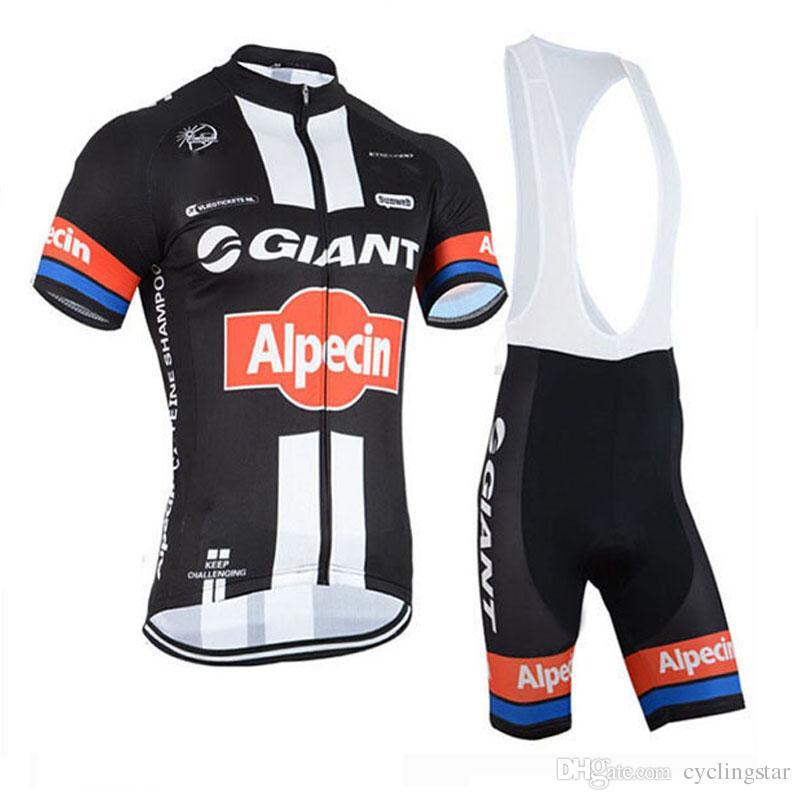 TOUR DE FRANCE 2017 GIANT-Alpecin TEAM Short Sleeve pro Cycling Jersey Bicycle shirt /Bike BIB Shorts men cycling clothing D2101
