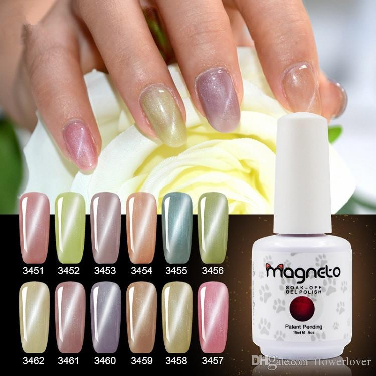 New Bright Cat Eye Gelish Nail Polish 15ml Led Gel High Quality Stickers Manicure From Flowerlover 519