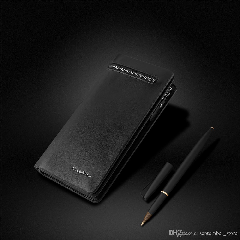 Wallet Men Leather Men\'S Wallet Two Fold Business Card Holder Cash ...