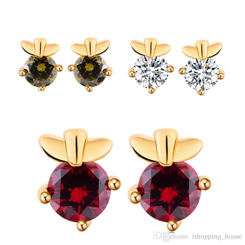 2018 Design Super Mini Stud Earrings For Baby 18k Yellow Gold ...