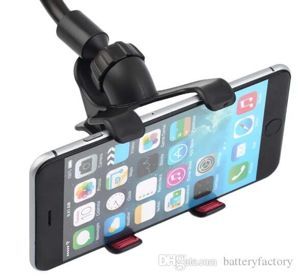 Support de montage universel pour support de pare-brise de voiture à 360 ° pour iPhone Samsung GPS PDA téléphone mobile noir DB-024