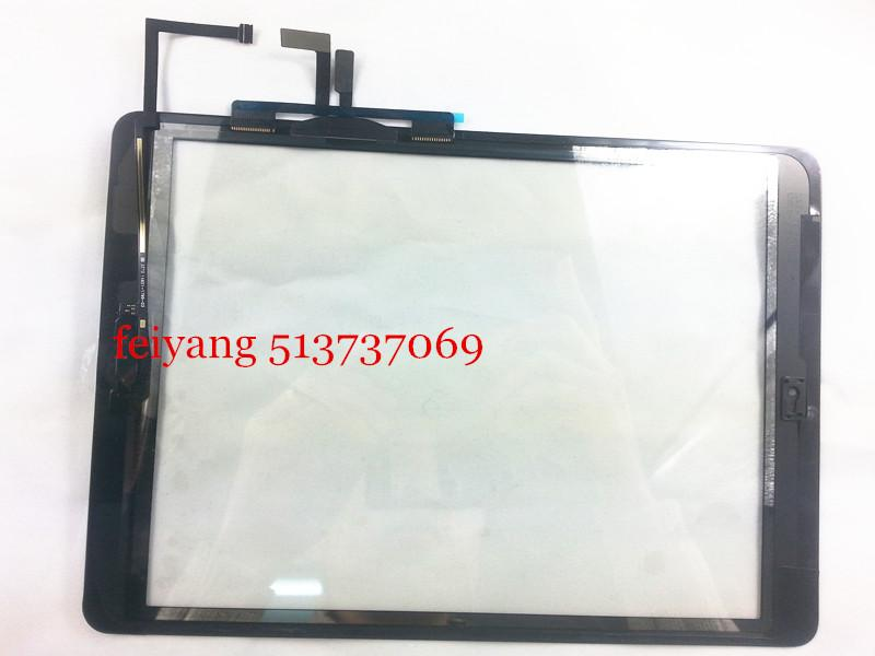 High quality Touch Screen Digitizer with Home Button flex cable outer Glass lens Assembly Panel Replacement For iPad air /5