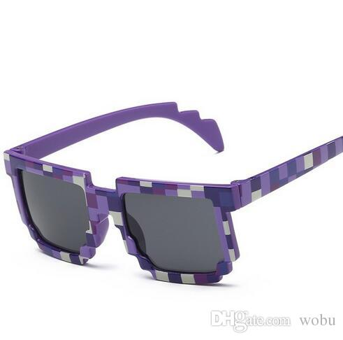 ! Fashion Sunglasses Kids cos play action Game Toys Minecrafter Square Glasses with EVA case gifts for Men Women