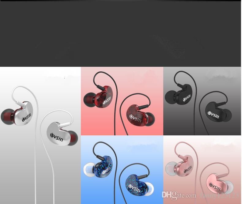 3.5mm Stereo Müzik Kulaklık Spor Koşu Kulaklık Kulak Bas Kulakiçi Mic kulaklık ile iphone sansumg için.