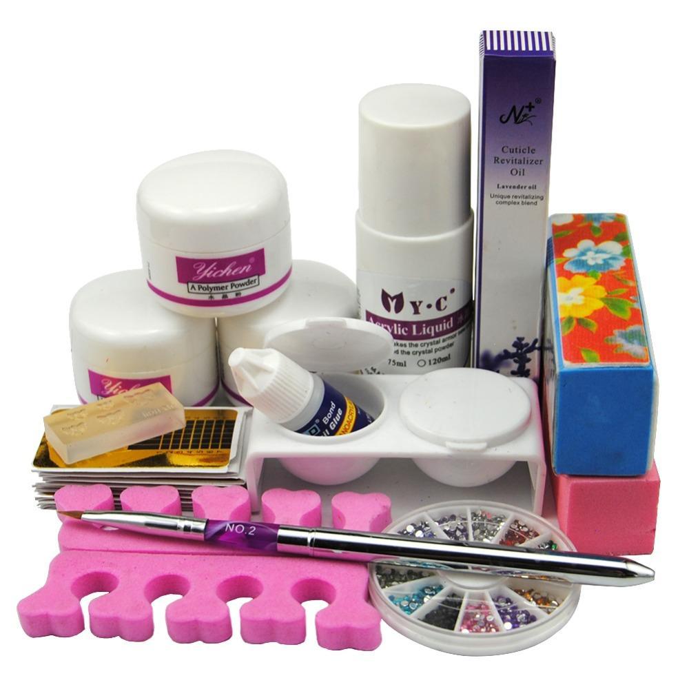 Wholesale- 2016 Acrylic Nail Set Powder And 75ml Liquid For Fake ...