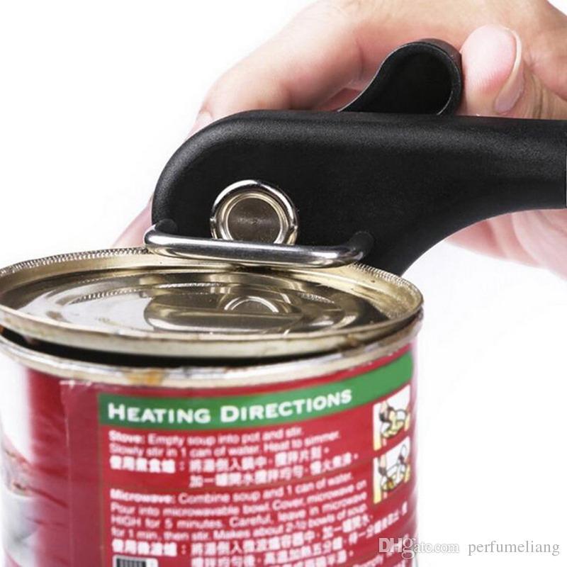 Ouverture de boîtes de cuisine en étain de sécurité multifonctions en acier inoxydable Professional Ergonomic Manuel Ouvre-boîtes Coupe latérale Manuel Ouvre-boîtes S201703